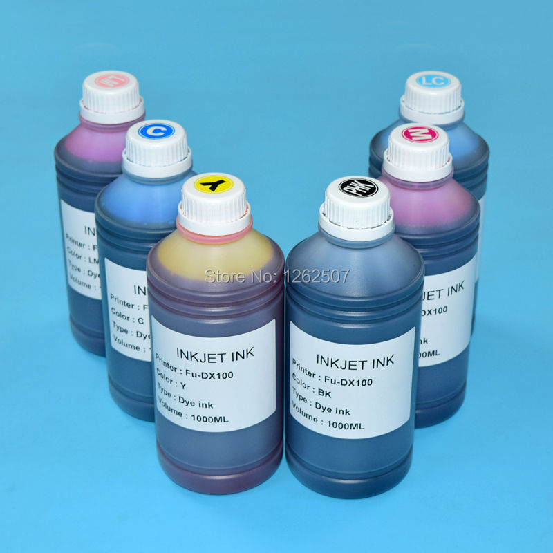 For Fuji DX100 UV Dye ink For Fujifilm DX100 Printing bulk ink 1000ml*6colors High quality Water based Bottle inks<br><br>Aliexpress