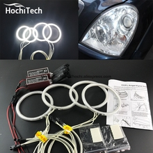 HochiTech WHITE 6000K CCFL Headlight Halo Angel Demon Eyes Kit angel eyes light for Ssangyong Rexton 2006 to 2011