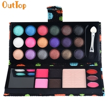 OutTop Love Beauty HOT 26Colors Eye Shadow Applicator Makeup Palette Cosmetic Eyeshadow Blusher Lip Gloss Powder Bag 160920