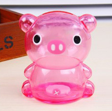 Cute Cartoon Pig Bear Frog Piggy Bank Coin Money Plastic Still Savings Toy Cash Safe Box Gift(China)