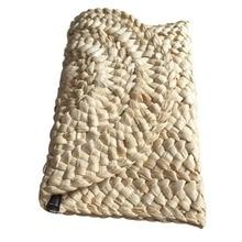 Соломы трикотажные Для женщин клатч элегантные женские плетеные сумки конверт HASP пляжная сумка для дам(China)