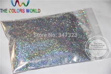 0.4MM Laser Diamond Silver Color holographic Glitter for nail gel nail polish or Other art Decoration(China)