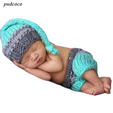 Buy Crochet Knit Newborn Baby Girls Boys Costume Photo Photography Prop Outfits AU 2PCS for $2.75 in AliExpress store