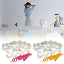 47 Pcs Sets DIY Sugar Craft Cake Decorating Fondant Icing Plunger Tools Mold Sale J2Y(China)