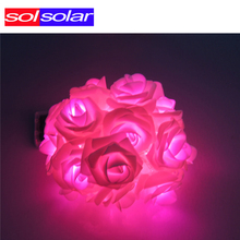 20Leds Solar LED Solar Garland String Lights Lamp Decoration Christmas Wedding Party Outdoor Yard Garden Luces Cherry Solare