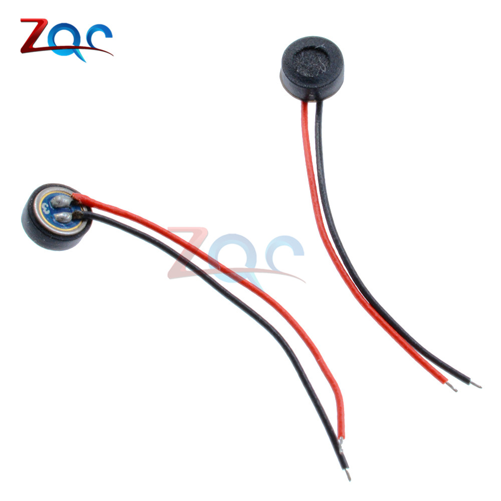 1pcs 4*1.5mm Electret Condenser Microphone MIC Capsule 2 Lead Wire Cable