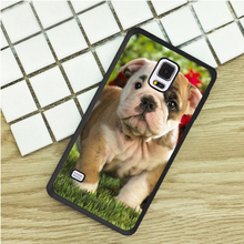 Adorable British Bulldog Puppy TPU Phone Cases For Samsung Galaxy S3 S4 S5 mini S6 S7 Edge S8 plus Note 2 3 4 5 Cover Soft(China)