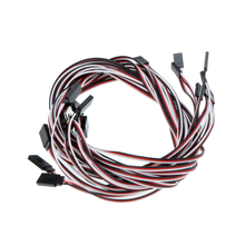 10Pcs Quadcopter Wire Cable 1000mm 1m Servo Extension Lead Wire Cable for RC Car Helicopter Servo Receiver Connection(China)