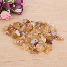 100g Rough Natural Citrine Chip Stone Brazil Raw Natural Crystals for Reiki Healing Home Craft Gift For Friends