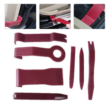 DWCX 7pcs Car Interior Audio Radio Dash Panel Clip Light Door Trim Open Removal Install Open Pry Tools Kit For VW Audi BMW Kia