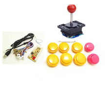 long shaft handle kit for PC type for 1 player PC to arcade game button and joystick, MAME Multicade Keyboard Encoder