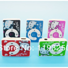 10 pcs/lot 100% Brand New High Quality Mini Hello Kitty MP3 Music Player Clip MP3 Players Support TF Card 5 Colors