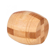 High Quality Adult 3D Wooden Puzzle Brainteaser Beer Barrel Lock Jigsaw Wood Fancy Christmas Gift Toy Children