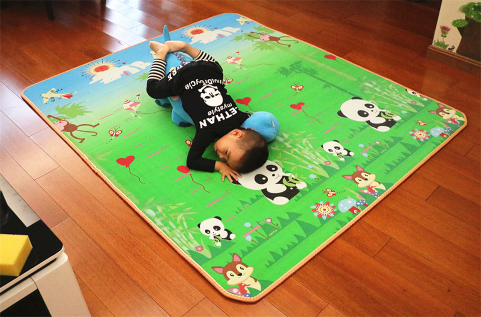 10 mm Thick Double Sides Children Play Mat Waterproof Kids Beach Picnic Mat Soft Eva Foam Carpet Rug Baby Crawling Mat Baby Toy 48