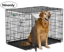 Big Dog Crate Metal Carry Case with Handle Collapsible Wire Pet Dog Cage Easy to Install Quality Insurance Door Safe Dog House(China)