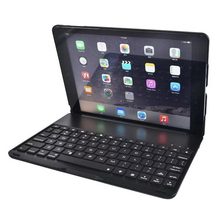 7 colors Backlit Aluminium Bluetooth Keyboard Smart Folio Case cover with touch pen for iPad Pro 9.7 inch/ iPad Air 2