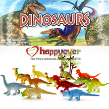 24Pcs 2 inch Mini Colorful Jurassic Dinosaur Toys Kids Dinosaur Party Favor Decoration Pinata Filler Boys Birthday Goody Bag(China)