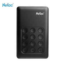 Netac K390 USB3.0 External Hard Drive 500GB 1TB 2TB Keypad Lock AES 256-bit Hardware Encryption HD Externo Disco HDD Hard Disk