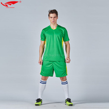 Men soccer sets customized number short sleeves 100% polyester jersey football uniforms kits adult survetement football 2017