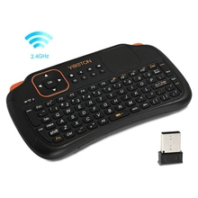 Viboton S1 All in 1 2.4GHz Wireless Keyboard with Touchpad Air Mouse Remote Control for Computer Projector TV Box Tablet