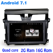 Quad core Android 7.1 car radio gps player for Nissan Teana Altima with 2G RAM wifi 4G USB RDS audio stereo mirror link SAT(China)
