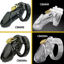 Buy CB6000/CB6000s male chastity device plastic cock cage penis sleeve sex toys men dick lock bdsm bondage cock ring penis cage