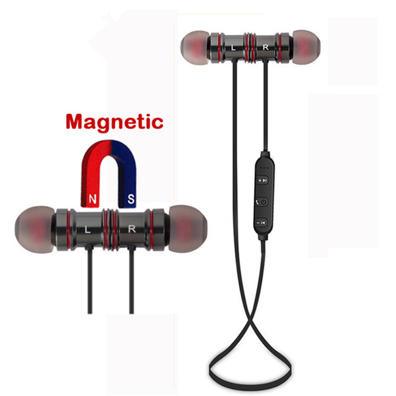 Magnetic Wireless Bluetooth Earphone Sports Bluetooth Sweatproof Running Stereo Earbuds for Samsung S7 Smart Watch iphone 5s 6s<br>