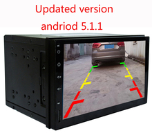 HD 1024X600 2Din Quad Core 1.6GHz CPU 2GB ROM 16G Flash Android 5.1.1 Car DVD GPS Navigation Player Stereo Radio 2 Din Universal(China)