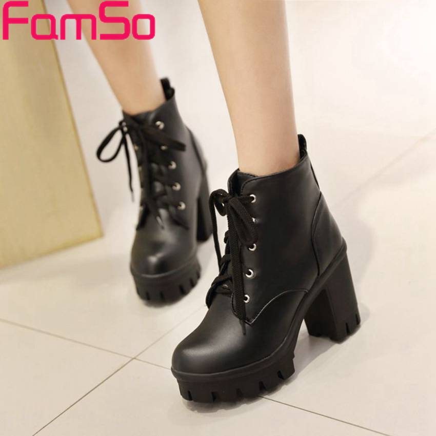 Size34-43 2017 New Women Boots High Heels Lady Martin boots Platforms Pumps Womens Ankle Boots Winter Snow Boots SBT2820<br><br>Aliexpress