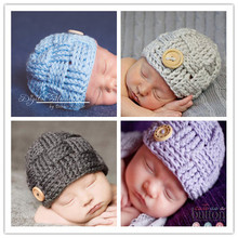 2016 Newborn Boy Hat Baby Cap Pattern Girls Handmade Hat Crochet Hat Winter Baby Photography Props