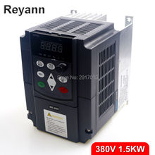 New 380vAC 1.5kw VFD Variable Frequency Drive VFD Inverter 380v 3 phase Input 3 phase Output 380V 3.7A 1500W Frequency inverter(China)