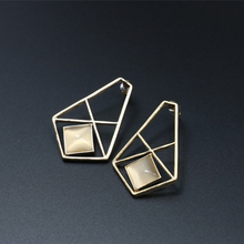 promotion price rock fashion exaggerated perspective earrings  brand cc allied express jewelry