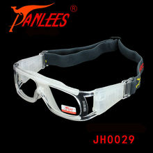 Hot Sale PANLEES Professional PC impact protective ball game shield cheap goggles glasses Match optical lens adult from China(China)