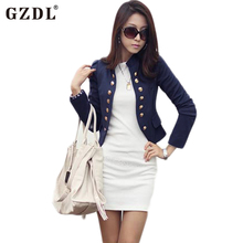 GZDL Casual Female Autumn Cardigans Long Sleeve Double Breasted Women Blazers Jackets Slim Fit Feminina Short Tops Coats CL1076(China)