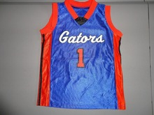 Blue #1 K. Abney Florida Gators Screen  throwback college Basketball Jersey