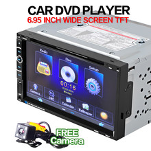 Universal 7Inch Double 2 Din Touchscreen In dash Car Stereo Radio Mp3 CD DVD Player FM Aux+Camera