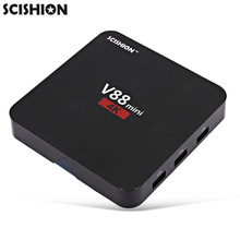 SCISHION V88mini TV Box RK3229 4 Core Android 6.0 1GB RAM + 8GB ROM Set-top Box RK3229 H.265 32Bits 4K Smart Media Player
