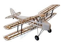 RC Airplane Laser Cut Balsa Wood Plane De Havilland DH82a Tiger Moth Biplane Wingspan 1400mm Woodines Model Building Kit(China)