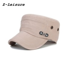 Spring Summer Fashion Cotton Military Hats 2018 Adult Men's Caps Adjustable Casual Flat Roof Trucker Hats MC1807