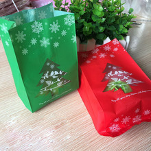 Food Packaging Bags Cookie  Bright red boots/Christmas socks  Print Self-adhesive Plastic Candy Cake Cookies Bags Christmas gift