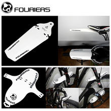 2pcs/lot FOURIERS Bicycle Fender Front and Rear Road MTB Mountain Bike Mudguard Mud Front Fork Rear Portable Quick Release(China)