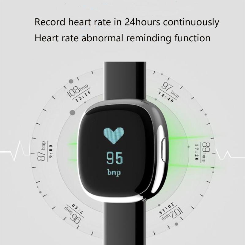 Waterproof Smart Bluetooth Heart rate Sport Sleep Tracker Wristband ,Bracelet&Intelligente beweging volgen voor De man en de vr 7
