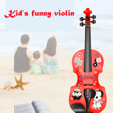 Ddung music toys kid light-weight violin 4 strings music instrument early educational toys for girls boys for learning gift
