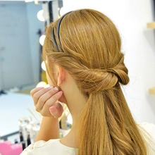 1 pc Fashion Women Girl Double Layer Adjustable Head Hair Hoop Elastic Hair Rope Hair Band Headwear Hair Accessories Hot Sale