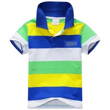 Summer Fashion Style Kids Baby Boys Cotton  Striped T-shirt Multi Color Short Sleeve Top S-XXL