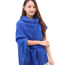 HOT SALE Women Lady Spring Autumn Great Neck Long Voile Scarf Shawl Wrap Della Stole Solid Pashmina scarve Luxury Brand Scarf013