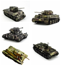 Camouflage Tank 3D Metal Puzzle DIY Tiger Tank/ Chi-Ha/T-34 Tank/T90 Tank Model Jigsaw Puzzle For Children Puzzle Military Toys