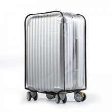 20 inch to 30 inch Suitcase 0.6mm thicker waterproof PVC transparent dust ALL cover with velcro opening luggage protection bag