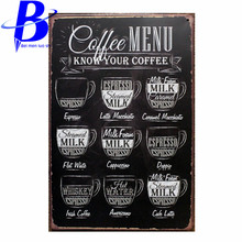 Tin Sign metal art poster home decor House Cafe Vintage Bar signs Wall Decor Retro Metal Art Poster Mix order 20*30CM(China)