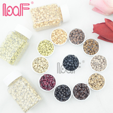 LOOF 5.0mm 200 Bottles(200000 pcs) micro silicone flare rings/ beads / links for i tip Hair Extensions 11 Colors(China)